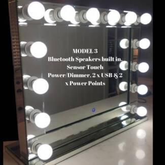 Hollywood Mirror  Bluetooth Speakers Touch Sensor, USB Ports..