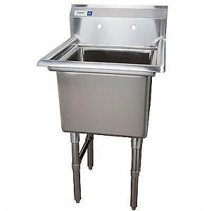 Evier commercial cuve de 18 x 18 en stainless steel acier inoxidable - restaurant sink garage lavabo table de travail