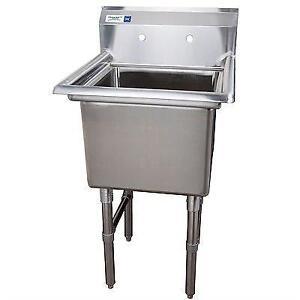Evier commercial cuve de 18 x 18 en stainless steel acier inoxidable - restaurant sink garage lavabo table de travail