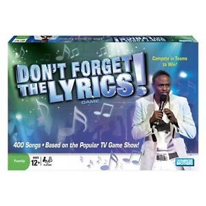 Dont Forget The Lyrics Game