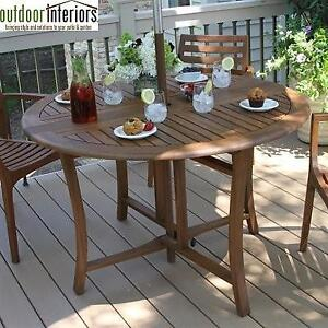 """NEW* 48"""" ROUND PATIO DINING TABLE 10025 211417460 Outdoor Interiors Folding"""