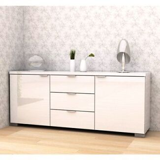 BRAND NEW HIGH GLOSS BUFFET-WHITE (L=160cm) Requires Assembly Point Cook Wyndham Area Preview