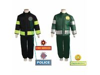 3 in 1 dress up role play set Police, fireman and paramedic 6-8 years