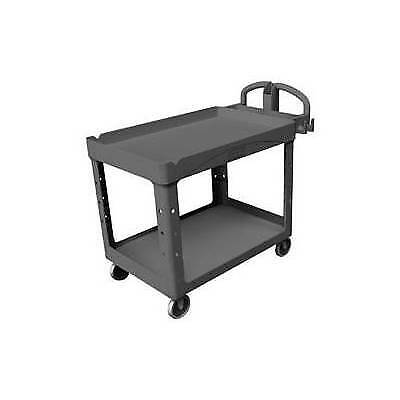 Rubbermaid Fg4520-88bla Heavy-duty Utilityservice Cart Black
