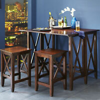 Black Breakfast Table,KLAMPEN Storage Carts, Console table