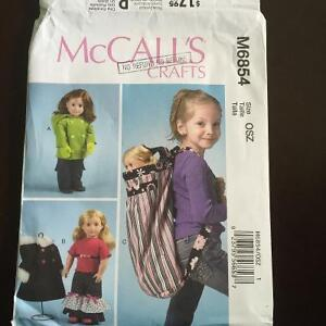 """Mccalls sewing patterns for American Girl and 18"""" dolls"""