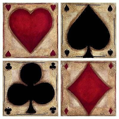 playing card fabric ebay