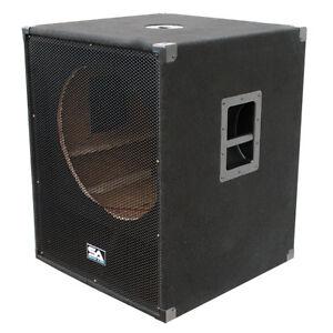 "Seismic Audio NEW EMPTY 18"" SUBWOOFER PA DJ PRO Audio Band Speaker | eBay"