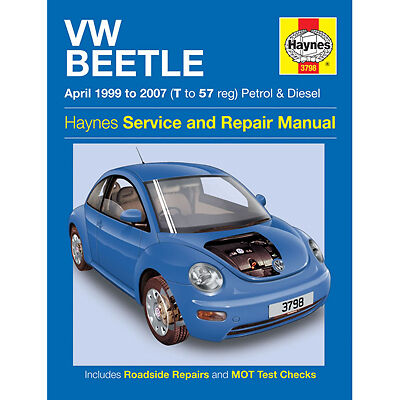 New Haynes Manual VW Beetle 99-07 Car Workshop Repair Book 3798