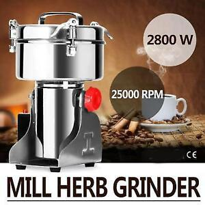 1000G Electric Herb Grain Mill Grinder Ores Salt 2800W Grinding Coffee Beans - FREE SHIPPING