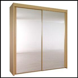 Large Glass Doored Wardrobe
