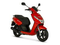PEUGEOT KISBEE 50CC SCOOTER - RED - BRAND NEW - UNREGISTERED - TANK OF FUEL