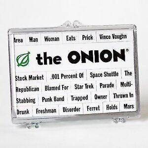 The Onion - Make Your Own Headlines with Magnets
