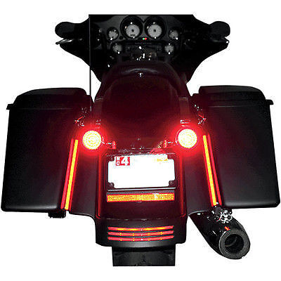 "Custom Dynamics 8"" Plasma Rod Tail Light Kit Harley Davidson Street Glide"