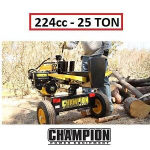 NEW* CPE 25TON TOWABLE LOG SPLITTER - 123682421 - GAS 224 CC FULL BEAM CHAMPION POWER EQUIPMENT