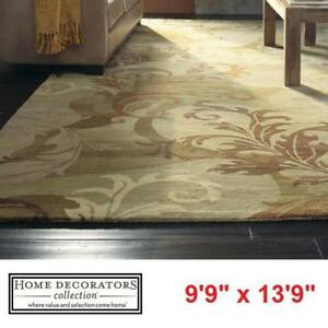 "NEW* SYMPHONY SAGE AREA RUG 10'x14' - 124993897 - HOME DECORATORS COLLECTION GREEN 9'9"" x 13'9"" RUGS CARPET CARPETS F..."