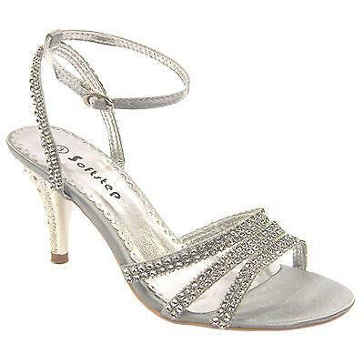 ff1462c830074 Silver Diamante Bridesmaid Shoes