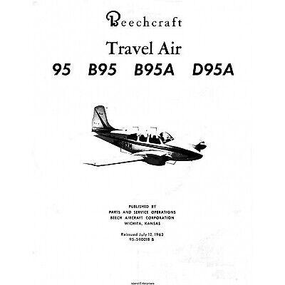 Beechcraft 95 series Travel Air Maintenance library w FAA current A/Ds