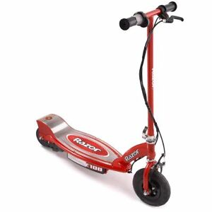 Red razor electronic scooter
