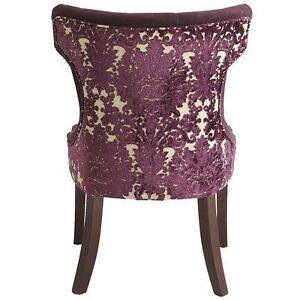 Purple Hourglass Dining Chair