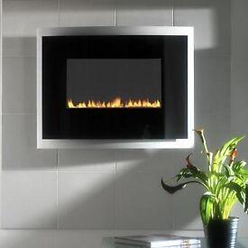 Gas Fire - Wall Mounted Modern Flueless