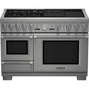 48-inch Freestanding Dual-Fuel Range with Warming Drawer