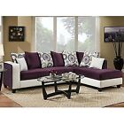 Living Room Purple Sectionals