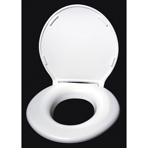 NEW Big John Oversized Raised Toilet Seat, Closed Front with Lid