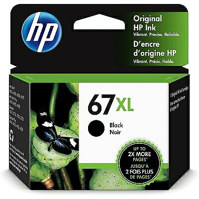 NEW Genuine HP 67XL Black Printer Ink Cartridge 3YM57AN OEM