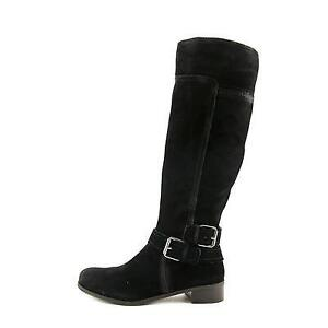 NINE WEST Black Suede Tall Boots