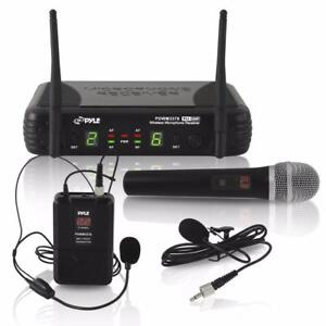 YLE PDWM3378 UHF Wireless Microphone System Kit, Includes Handheld Mic, Headset Mic, Lavalier Mic & Beltpack