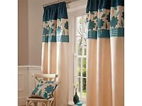 Catherine lansfield faux silk curtains