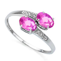 """ PRETTY IN PINK "" W/ 1.13CWT PINK TOPAZ & 4 PCS. DIAMONDS CRAFT"