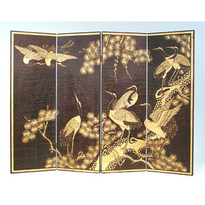 REDUCED Divider with Sepia finish and Crane scene