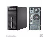 HP Prodesk 400 G1 Tower Intel i3-4130 3.4GHz 8GB RAM 500GB hddWin 7