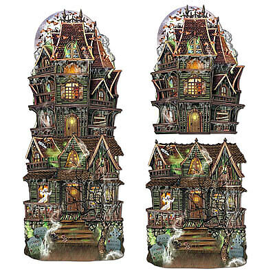 Jumbo Haunted House Cutouts (Haunted House Collectibles)