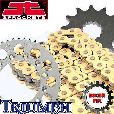 GOLD X RING CHAIN  AND SPROCKET SET KIT TRIUMPH 1050 TIGER 2007 11