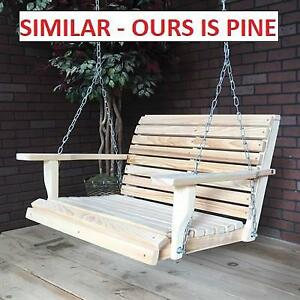 NEW* HANGING PATIO PORCH SWING 242099516 PURITAN PINE  5