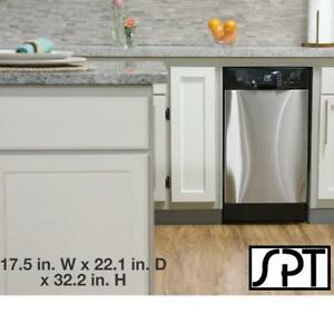 "NEW SPT 18"" BUILT IN DISHWASHER - 134175949 - STAINLESS STEEL 6 WASH CYCLES DISHWASHERS WASHING DISHES APPLIANCE KITCHEN"