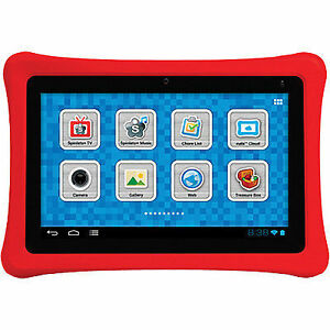 """Fuhu Nabi NABI2-NV7A Kids 7"""" 8GB Android Tablet with Red Sleeve"""