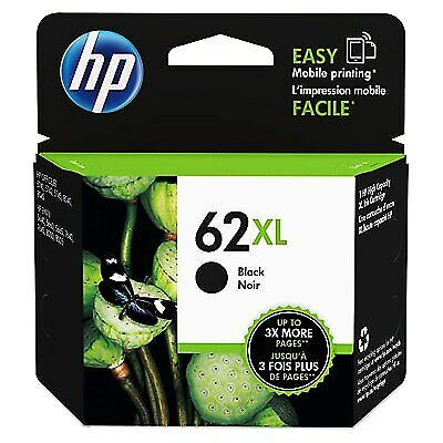 HP 62XL High Yield Original Ink Cartridge, Black (C2P05AN)