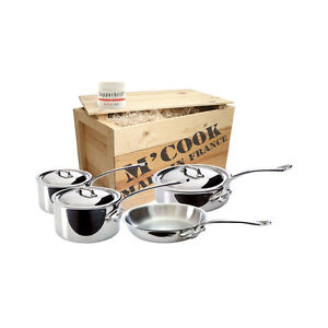 Mauviel M'cook Stainless Steel - Crated 7pc Pot Set