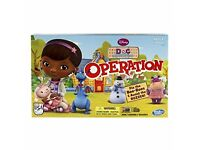 Doc McStuffins Operation board game, brand new, sealed