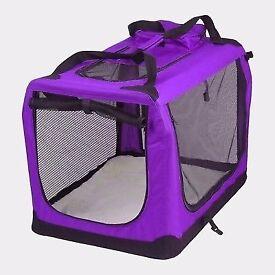 Portable Soft Fabric Pet Carrier Folding Dog Cat Puppy Travel Transport Bag