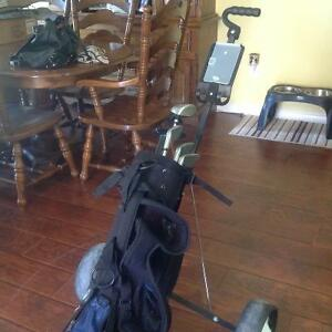 Junior Golf Clubs with Bag and Pull Cart
