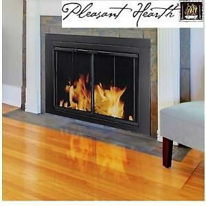 NEW* PLESANT HEARTH FIREPLACE DOOR 216269366 GLASS MESH PANELS