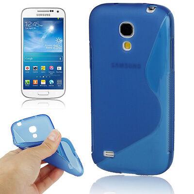 Samsung i9190 i9195 Galaxy S4 Mini - Housse de protection silicone souple S BLEU