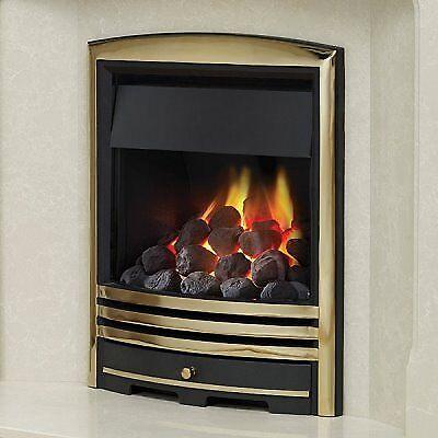 Be Modern Velocity Brass Design Cast Trim Inset Gas Fire