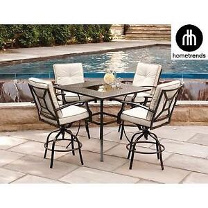 NEW HOMETRENDS 5PC HIGH DINING SET LG6432-5PC 135931919 NEWPORT HIGH PATIO FURNITURE