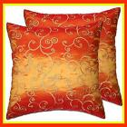 Orange Silk Pillow